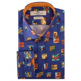 Golden Girl Print Men's Shirt