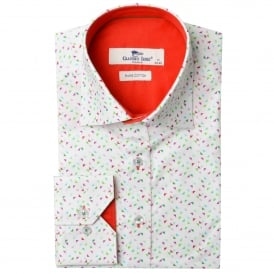 Graphic Triangle Print Mens Shirt