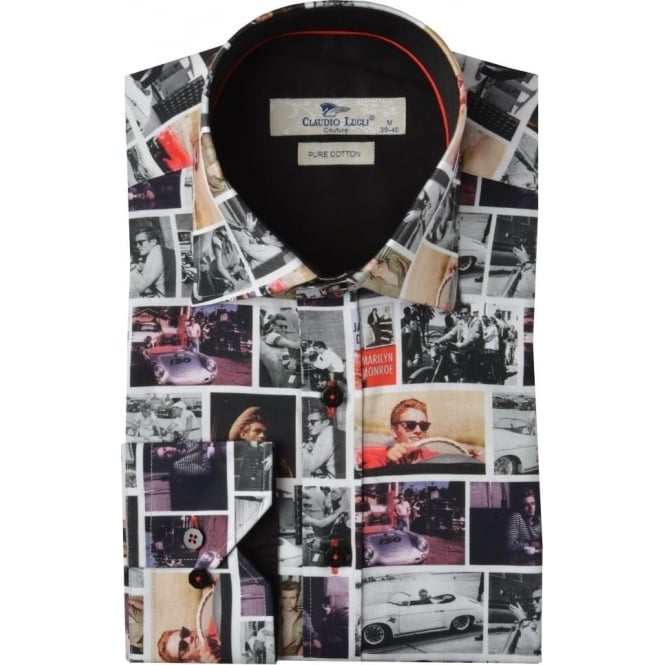 Claudio Lugli James Dean Print Mens Shirt
