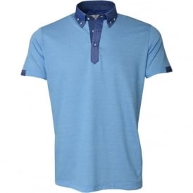 Mens Dotted Jacquard Knit Polo T-Shirt
