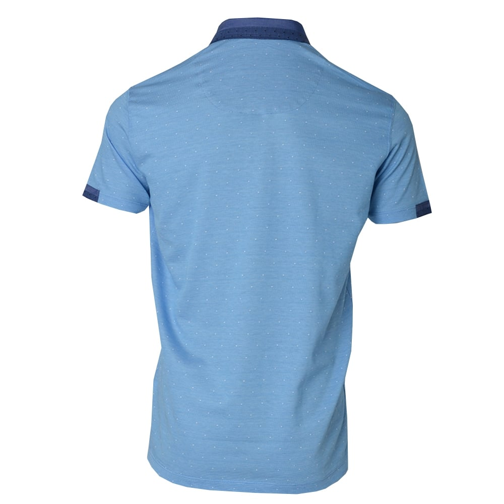Claudio lugli mens dotted jacquard knit polo t shirt the for Knitted polo shirt mens