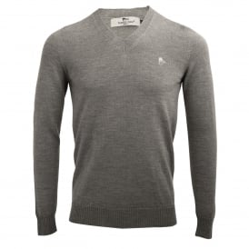 Merino Wool Mens V-Neck Jumper