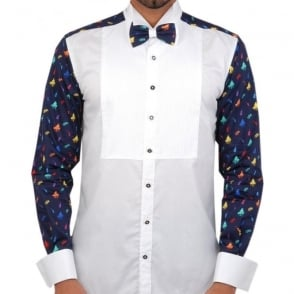 Evening dress shirts for men claudio lugli bow tie shirt for Mens shirts with matching ties