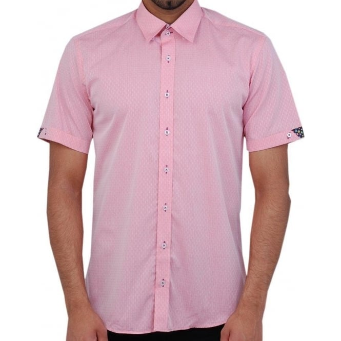 Buy short sleeved shirts the shirt store claudio lugli for Mens pink shirts uk