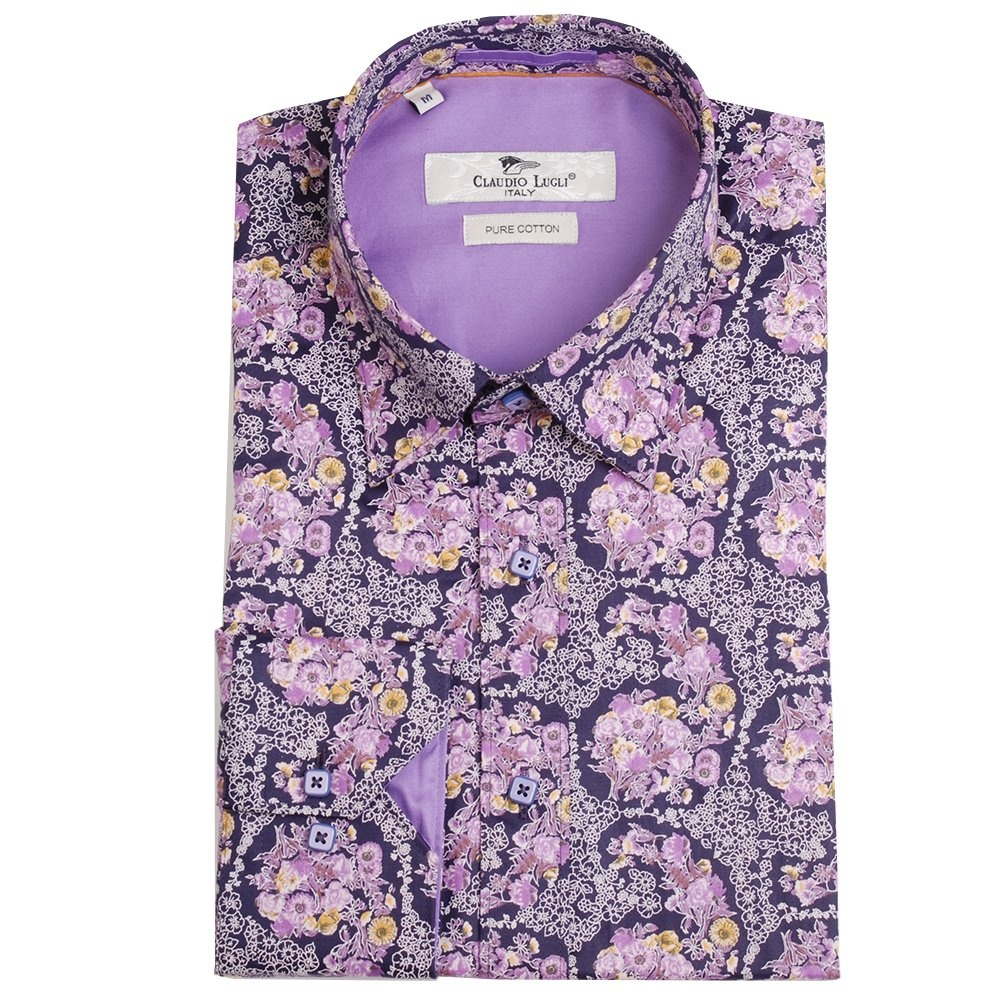 071da5f223fa33 Buy Designer Shirts | The Shirt Store Online| Buy Claudio Lugli CP5954 Printed  Shirts | The Shirt Store