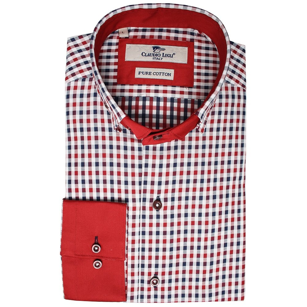 Gingham Mens Dress Shirt