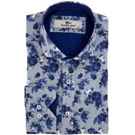 Rose Stripe Print Mens Shirt