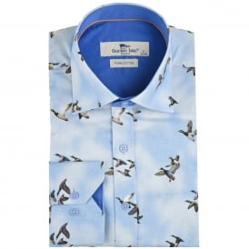 Sky Flying Bird Print Mens Shirt
