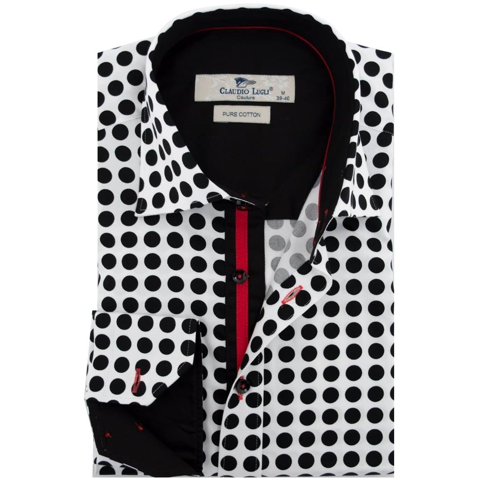 0cc85024 Claudio Lugli Spot Print Mens Shirt
