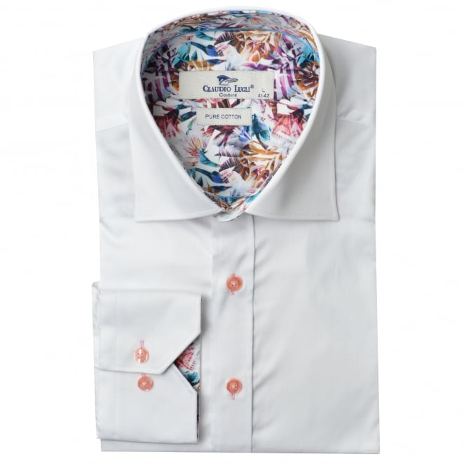 Claudio Lugli Tropical Trim Mens Shirt