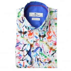 Watercolour Print Mens Shirt