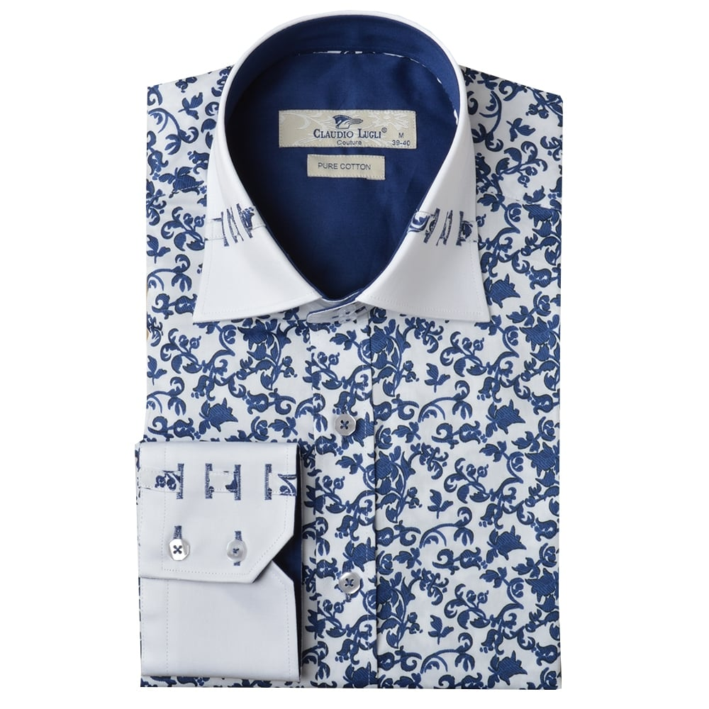 Claudio Lugli Shirts for Men | Floral Print Shirts | The Shirt Store