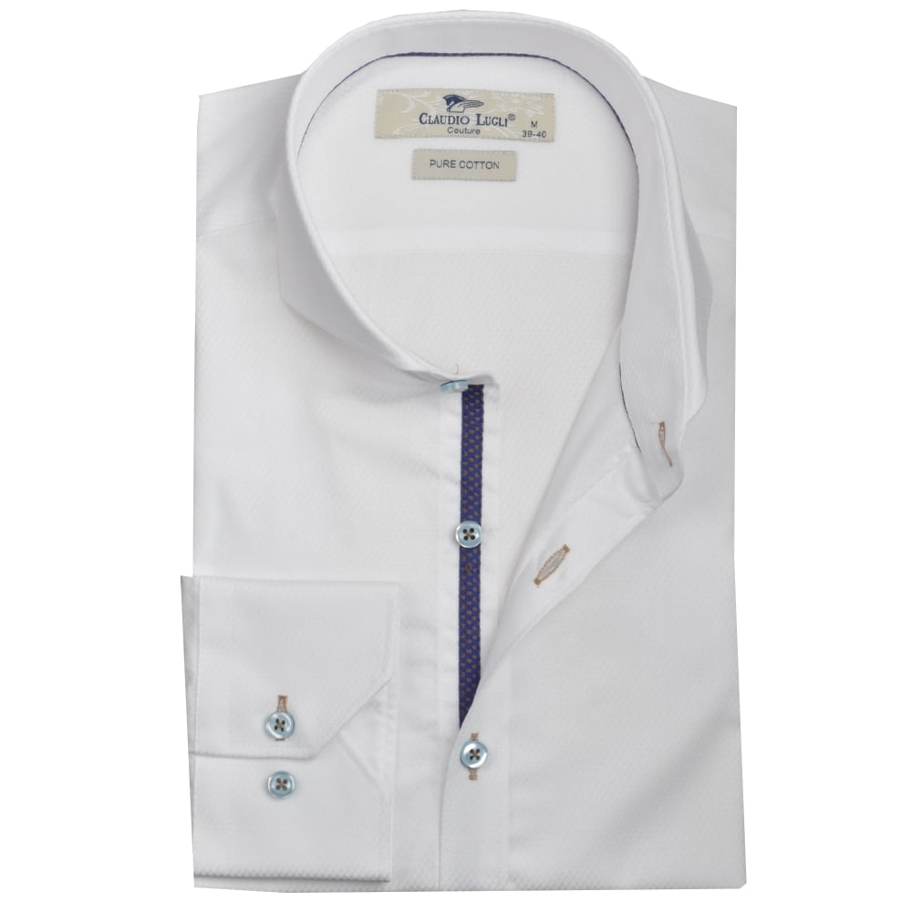 Claudio Lugli Shirts Cutaway Collar Shirts The Shirt Store
