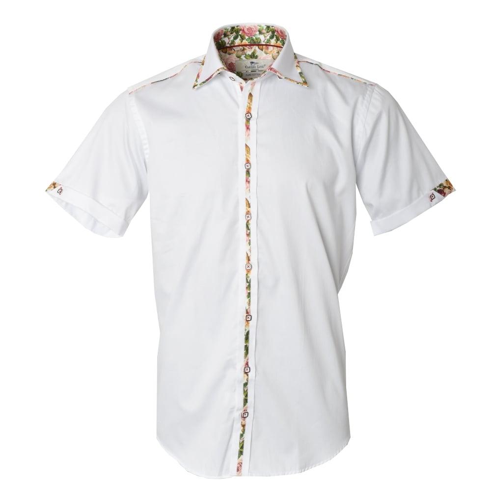 Claudio lugli shirts floral rose mens shirt the shirt for Mens short sleeve floral shirt