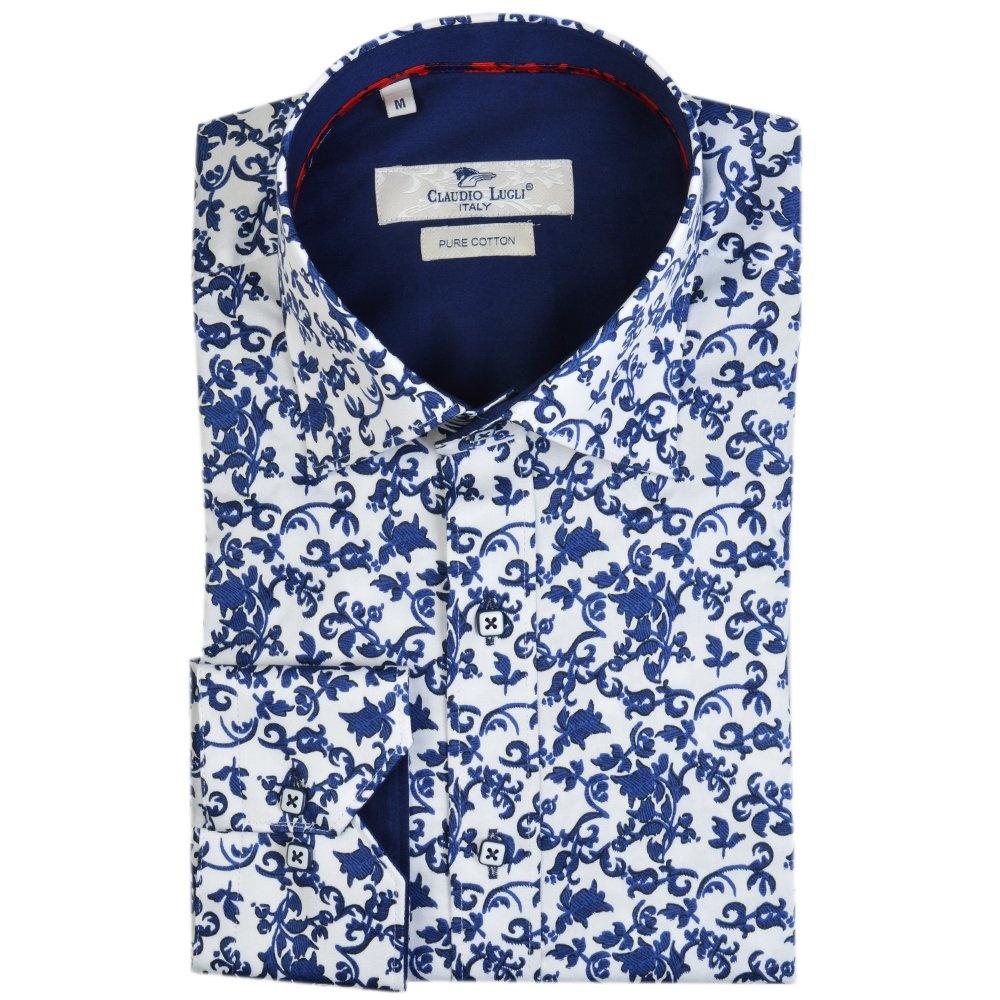 Flower print button up shirts kamos t shirt for Floral print button up shirt
