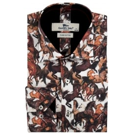 Wild Stallion Print Mens Shirt