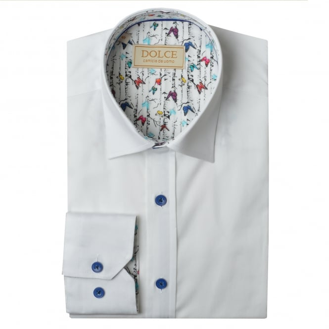 Dolce Butterfly Trim Collar Mens Shirt