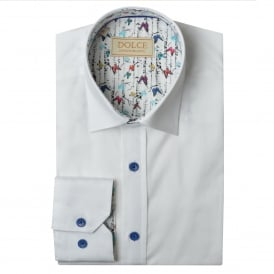 Butterfly Trim Collar Mens Shirt