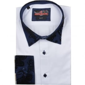 Paisley Flock Collar Mens Shirt
