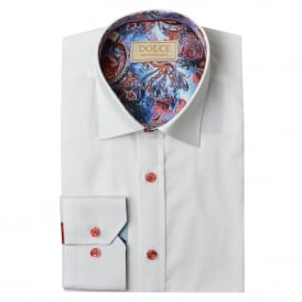Paisley Trim Collar Mens Shirt