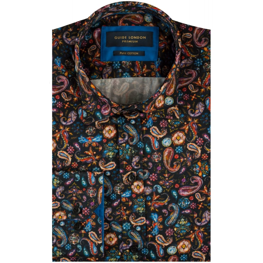 Guide London Mens Shirts Mens Paisley Shirts The Shirt