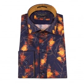 Bright Fire Print Mens Shirt