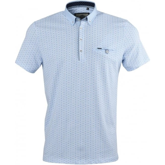 Guide London Cubic Print Mens Polo T-Shirt