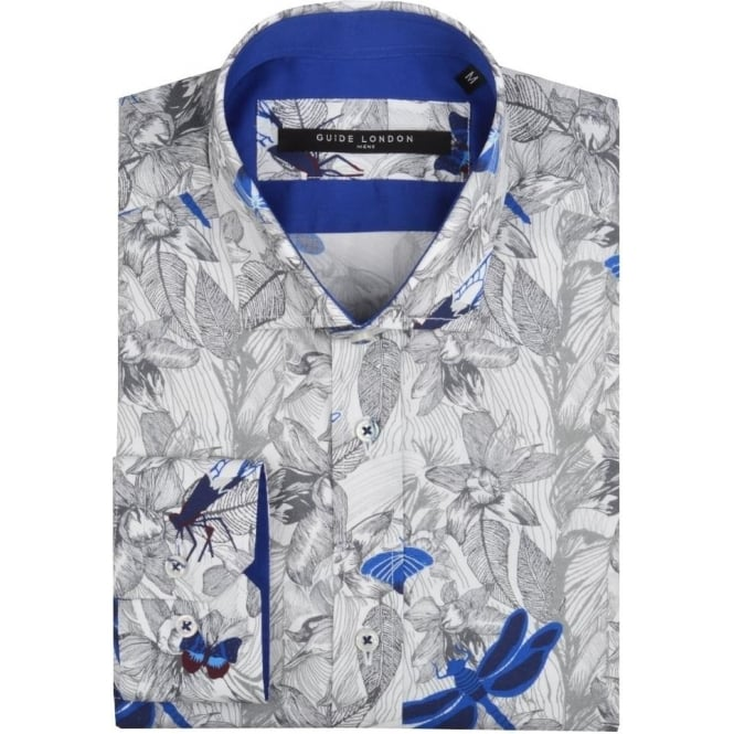 Guide London Dragonfly Print Mens Shirt