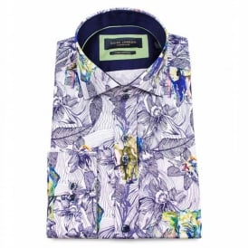 Flower and Animal Print Mens Shirt