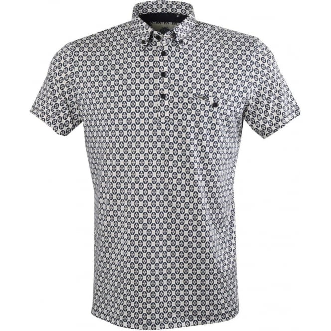 Guide London Geometric Print Mens Polo T-Shirt