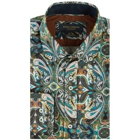 Large Paisley Print Mens Shirt