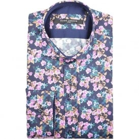 Mens Cotton Sateen Bright Floral Shirt