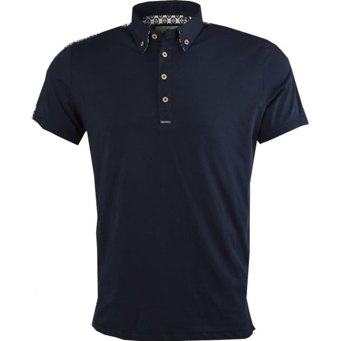 Guide London Patterned Back Mens Polo T-Shirt