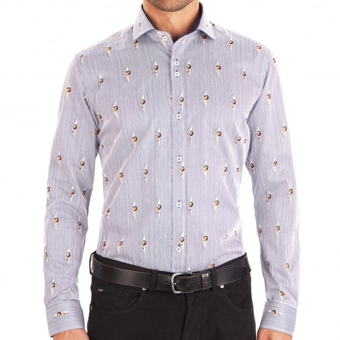 Guide London Pin-Up Ladies Peekaboo Mens Shirt