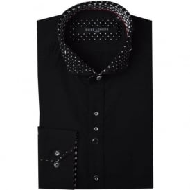 Polka Dot Collar Mens Shirt