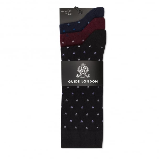 Guide London Space Invader Mens Socks 3 Pack