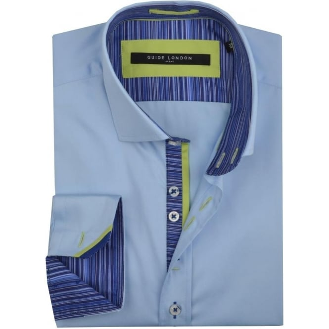 Guide London Striped Trim Mens Shirt