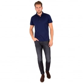 Tapered Fit Stretch Denim Jeans