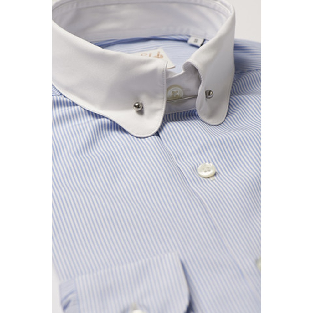 Hawkins and shepherd pin collar shirts the shirt store for White shirt with collar pin