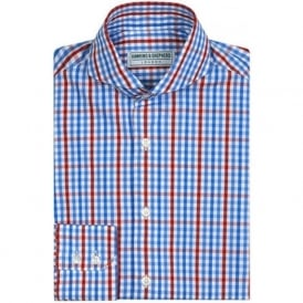 Luxury Handmade Gingham Check Mens Shirt