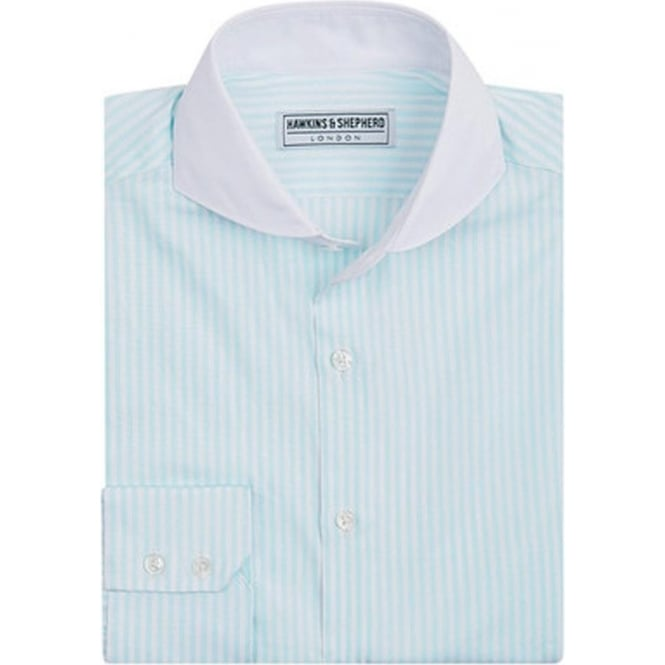 Hawkins & Shepherd Luxury Handmade Mint Stripe Mens Shirt