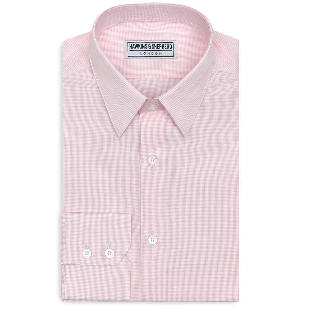 Hawkins and shepherd pin collar shirts the shirt store for Mens pink shirts uk