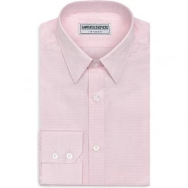 Luxury Handmade Pink Check Mens Shirt