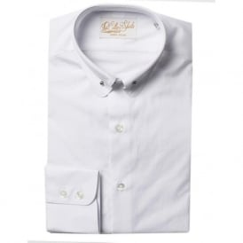 Luxury Handmade White Pin Collar Mens Shirt