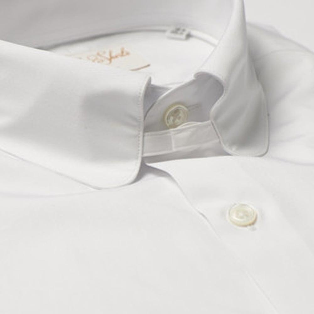 Mens White Tab Collar Dress Shirts Joe Maloy