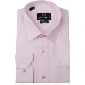 Classic Plain Woven Shirt in Pink