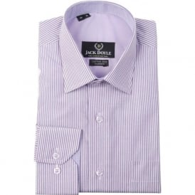 Classic Striped Shirt in Purple