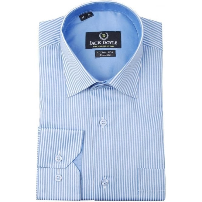 JD Shirts Classic Striped Shirt in Sky