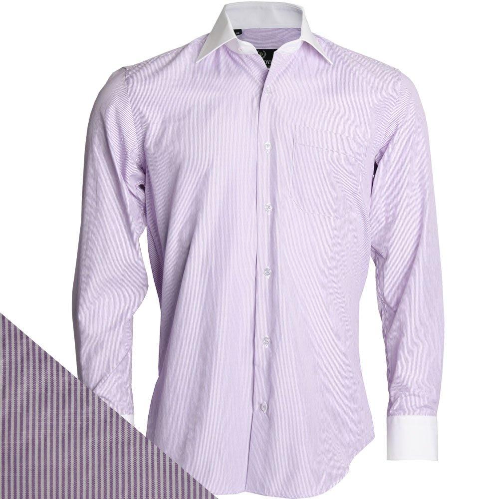Buy mens classic stripe shirt jd 139 shirt the shirt store for Mens lilac dress shirt