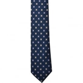 French Navy Silk Tie